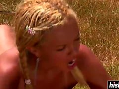 Barbie Banks gets nailed in the field