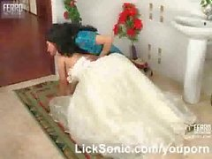 Lesbian sex with a bride