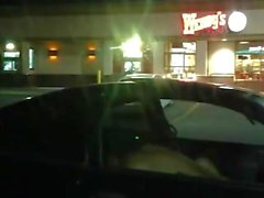 Outdoor Sex in a car at Wendy's