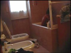 Francesca Maggio masturbating on a bathtub