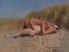 Grand dad fucking in beach