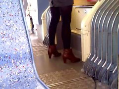 Perfect legs in the train