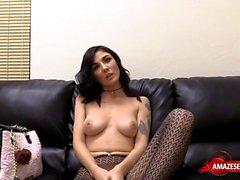 Big boobs pornstar nylon with creampie