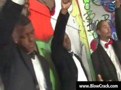 Interraziali BlowBang - bella eiaculazione facciale hardcore interraziale fottere 06