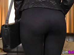 Teen in stockings pounded