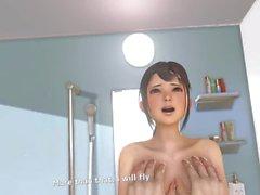 VR Kanojo Badezimmer Boob Job, Sex & Big Butt