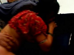 Horny Indian girl licks his nuts, sucks a prick and gets drilled