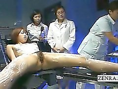 Subtitled CFNF Japanese model lesbian massage by nurses
