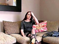 Sexy Amsterdam stripper banged in British casting
