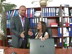 Ateşli Sekreteri Angelica Kalp ofisinde bok dalga bulunur