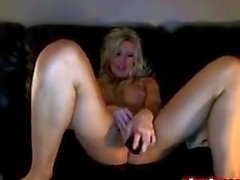 Hot Blonde Toying On Cam