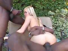 Crista Moore let out some big moans today as she got...