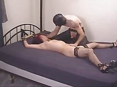 Goth Chick bound and fucked
