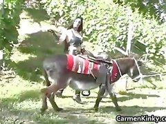 Twee kinky schoffel met donky plezier part5