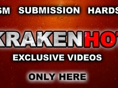 Krakenhot - Funny redhead teen in a bdsm submission casting