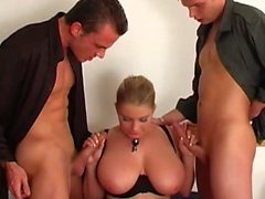 Threesome big tits norsk milf