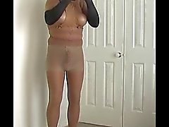 tan pantyhose multiple layers