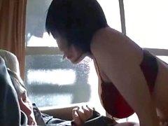 Adolescente giapponese a piace di figa pelose FACE seduta 02