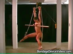 Nasty great tits sexy babe gets bondage part3