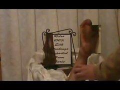 Sheer Stocking Model Tickling