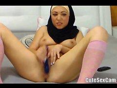 Arabic Sweety Babe Masturbating and Dressing Of