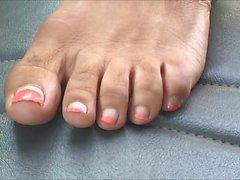 Arlene Vihreä Pink Toenails