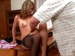 Pantyhose Blonde Gets Toes Sucked