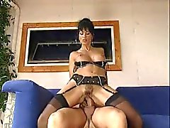 Beautiful Italian mature in stockings gets nailed