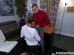 Office babe Dakota Vixin fucked on sofa