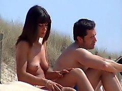 ongelooflijke Franse paar naaktstrand amateur brunette