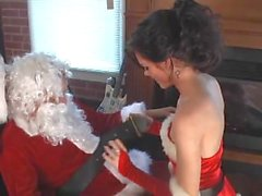 Cute brunnette Ava Marie makes the best Santa's Helper