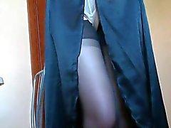 Benen en voeten in nylon