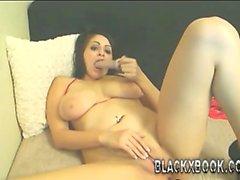 Big titties college girl masturbati