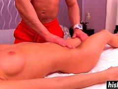 Fat dick massages a wet cunt