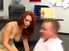 Dingue Cheveux roux d'écolière t- enseignant