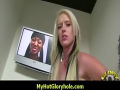 Amazing interracial glory hole blowjob and sex 10