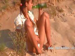 Sweet natasha teenie naked on the beach