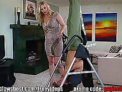 MommyBB Busty MILF Julia Ann is sucking my tied up boyfriend!