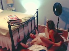 Girl pegs tied up guy until he cant take it then unexpectedly pisses on him