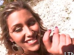 Explicit and wild blowjob dished out outdoors