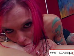 FirstClassPOV - Anna Bell Peaks sucking a monster cock