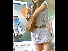 walk behind short skirt girl :2 (China)