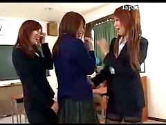 Schoolgirl In Uniform Her Tits Rubbed Pussy Licked Asshole Fingered By 2 Girls In The Classroom