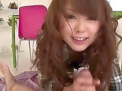 Jyunko Hayama blows big cock in POV style