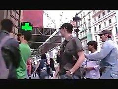 Sandra G Desnuda por las Calles de Barcelona