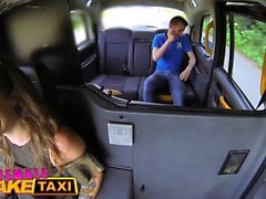 Female Fake Taxi Milf gives hung stud lessons