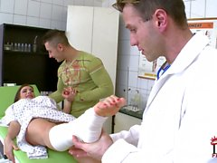 Sexy patient Clanddi Jinkcego with fuckable feet