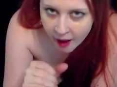 redhead sucks fat white cock for a facial