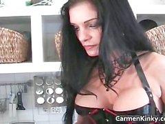 Boobed Carmen in incredible sexy bondage part6