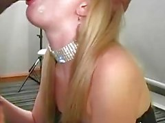 Blonde Girl blushed about too much BBC